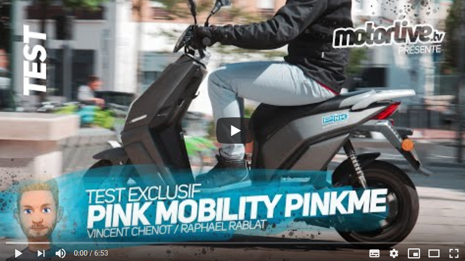 Image à la une – TEST – PinkMe élu scooter électrique de la rentrée